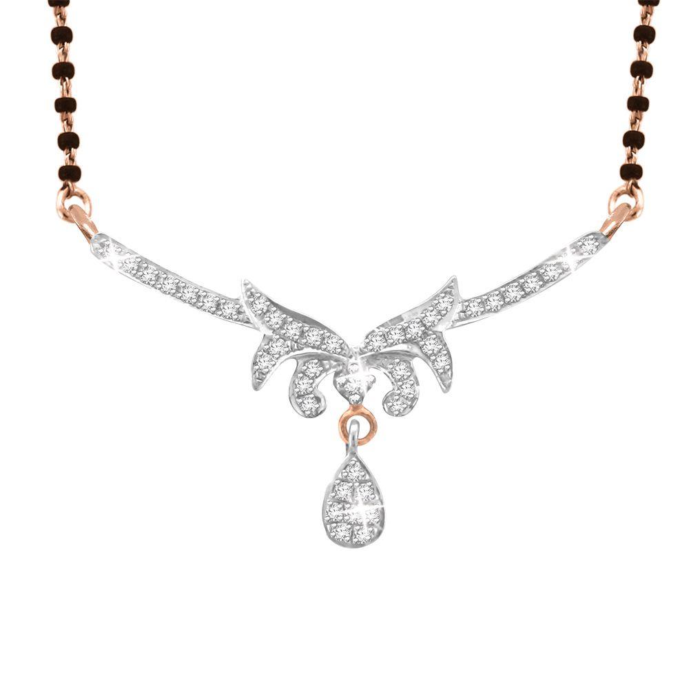 His & Her 9k Rose Gold Diamond Mangalsutra