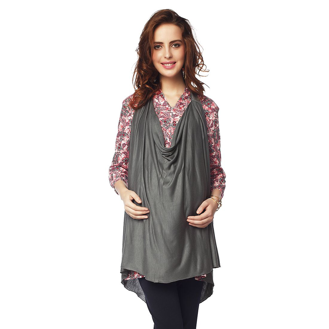f7dcd9e2d8 Nine Maternity Wear Gray Solid Viscose Scarves  Buy Online at Low Price in  India - Snapdeal