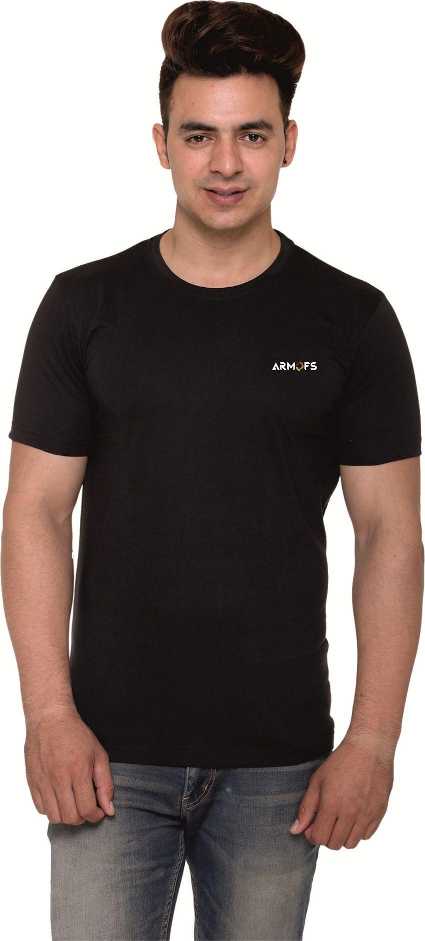 ARMOFS Black Round T-Shirt Pack of 1