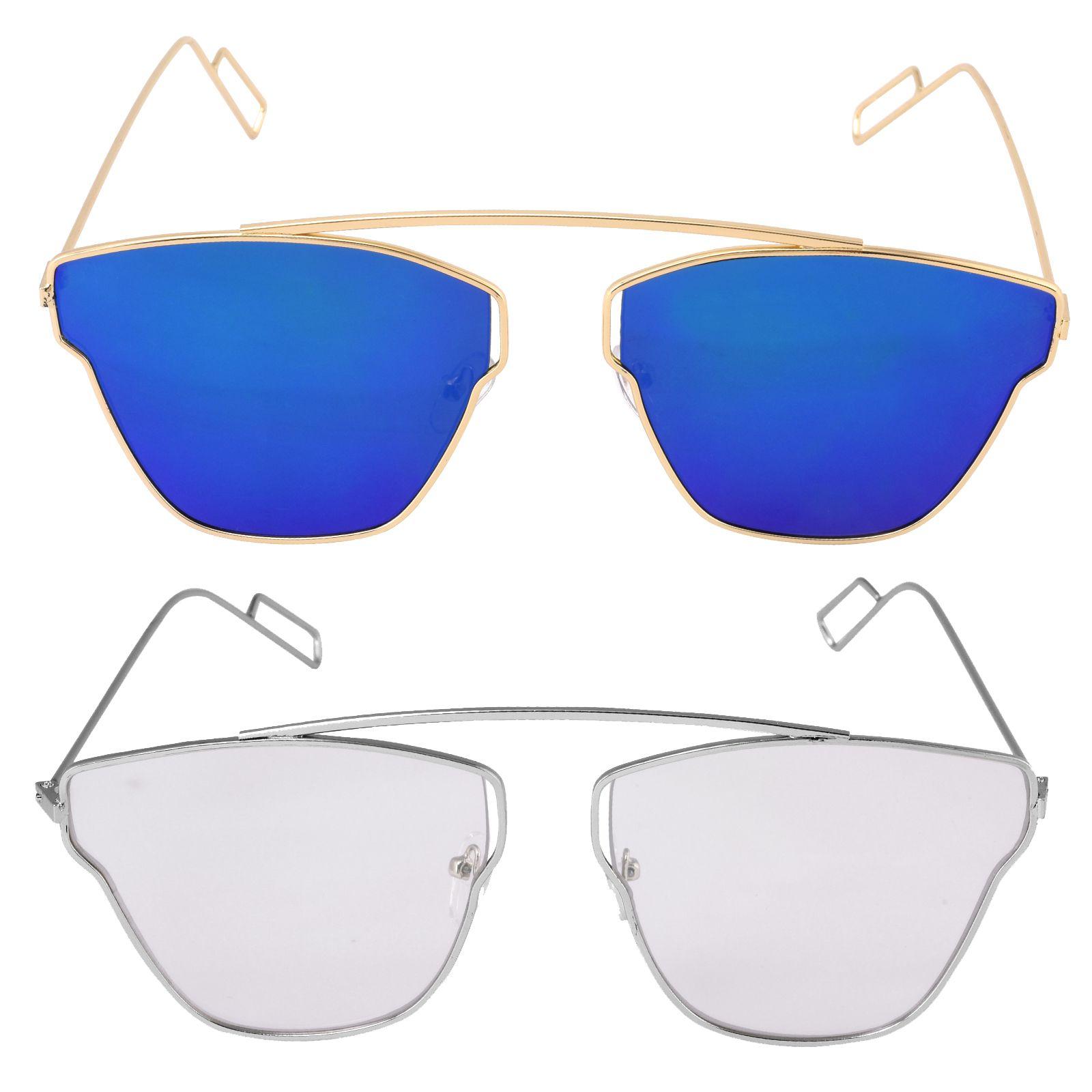 Poloport Multicolor Aviator Sunglasses ( D21-D26 )