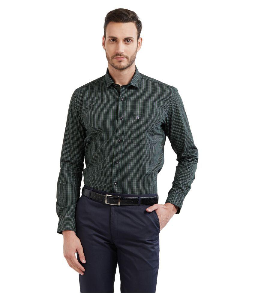 Integriti Green Slim Fit Shirt