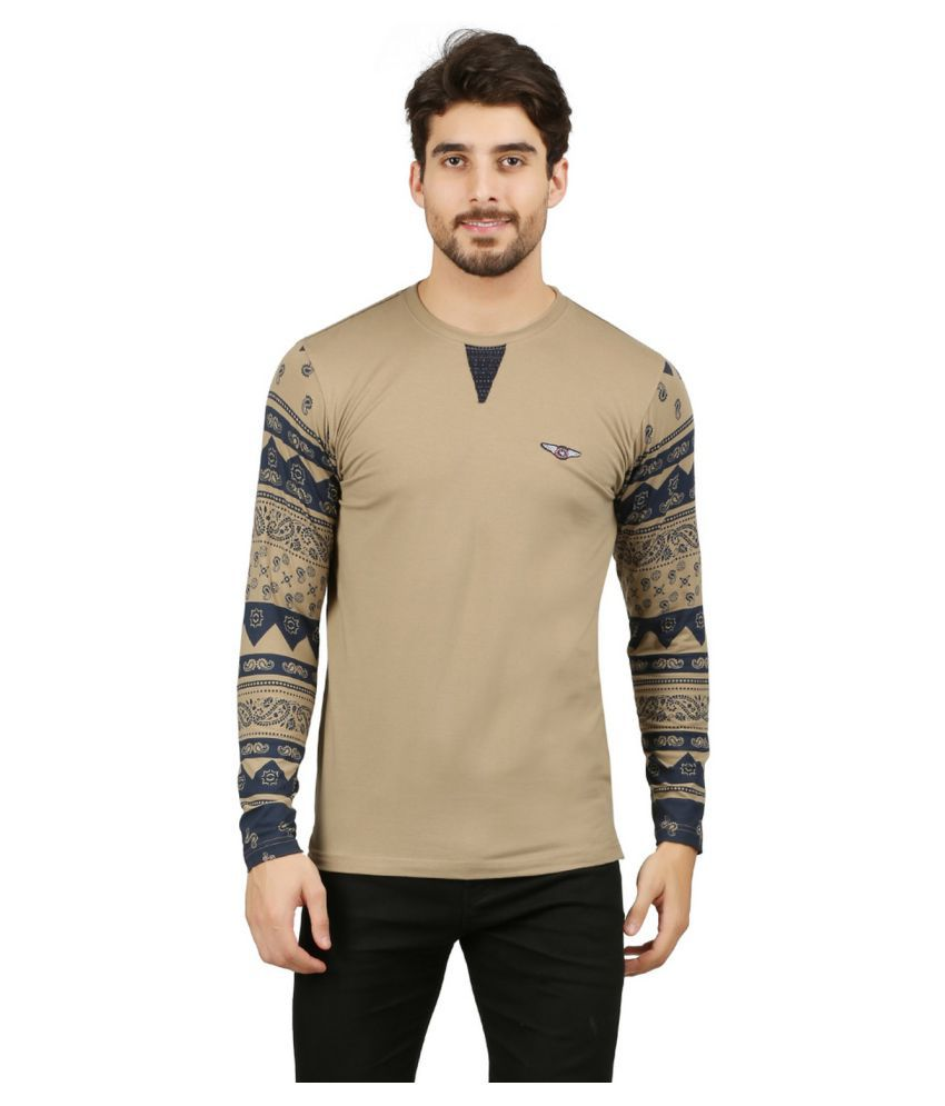 Wexford Beige Henley T-Shirt Pack of 1