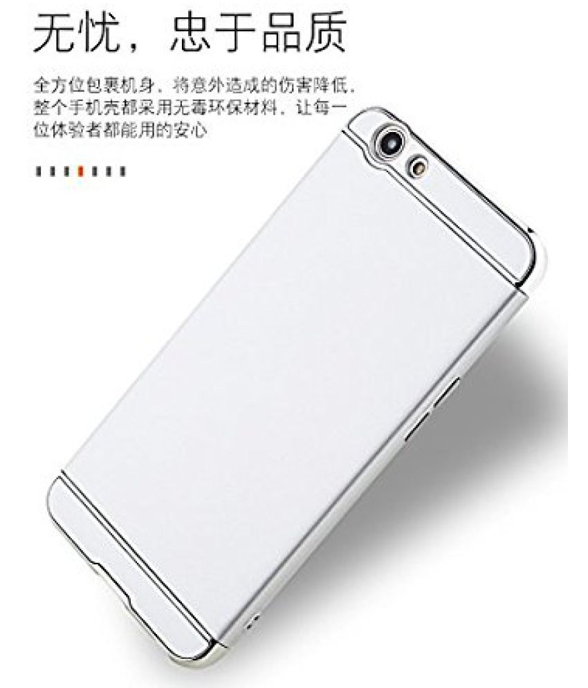 OnePlus OnePlus 5 - 3 in 1 Protective Cover by ClickAway - Silver