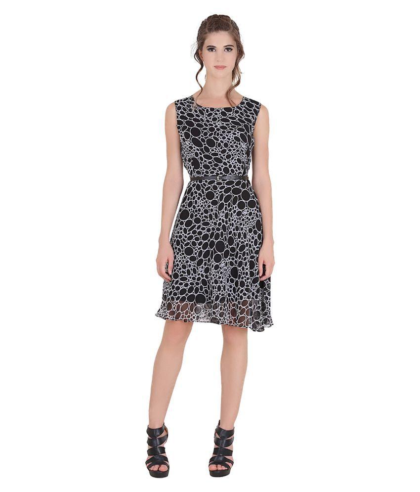 Rutvi Fashion Georgette Black Dresses