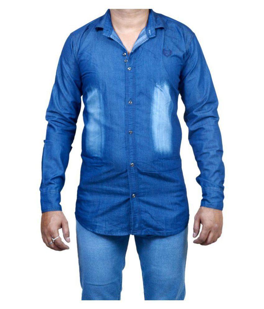 Zimboo Blue Regular Fit Shirt