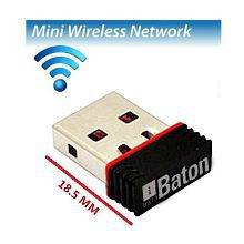iball 150M Wireless-N Mini USB iB-WUA150NM Laptop, PC Lan Adapter (150 Mbps)