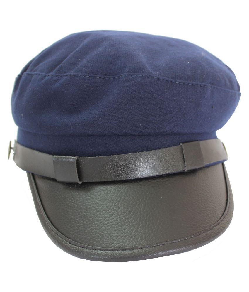 TakeInCart Blue Plain Cotton Caps