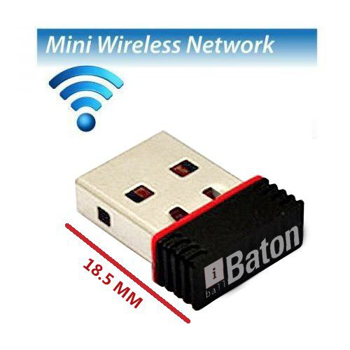 iball 150M Wireless N Mini USB iB WUA150NM Laptop, PC Lan Adapter  150 Mbps