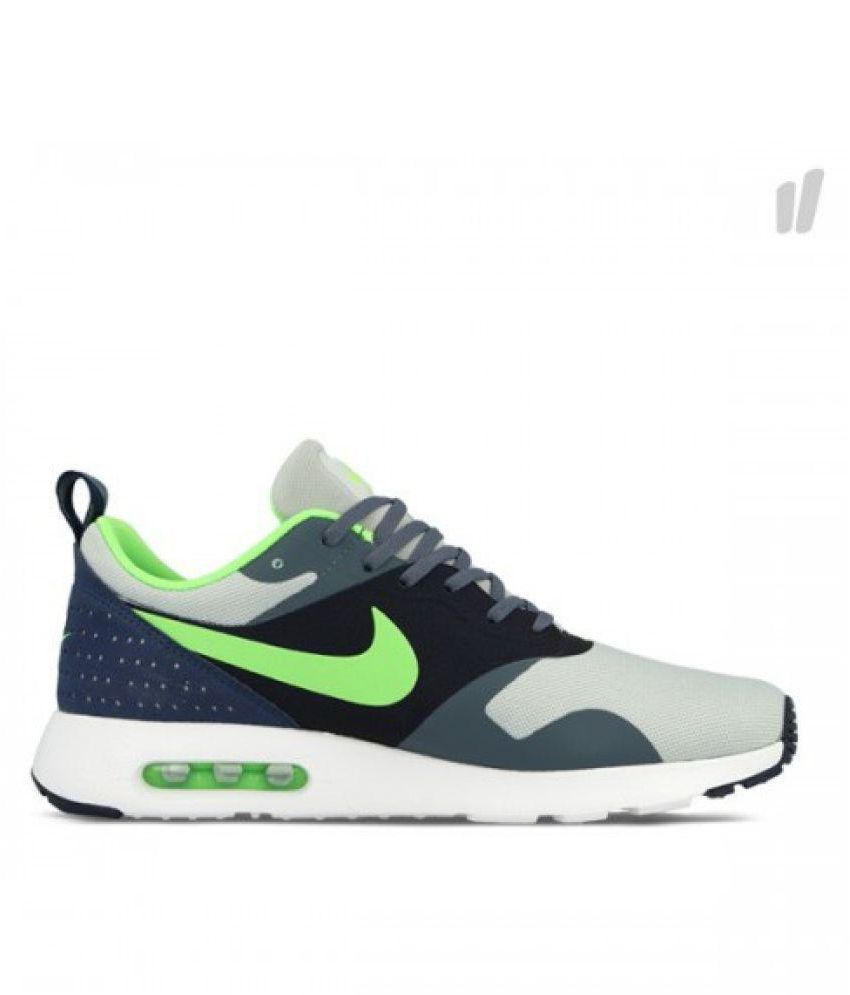 56fef8ccda Nike AirMax Tavas Thae Flashy Green Gray Running Shoes - Buy Nike ...