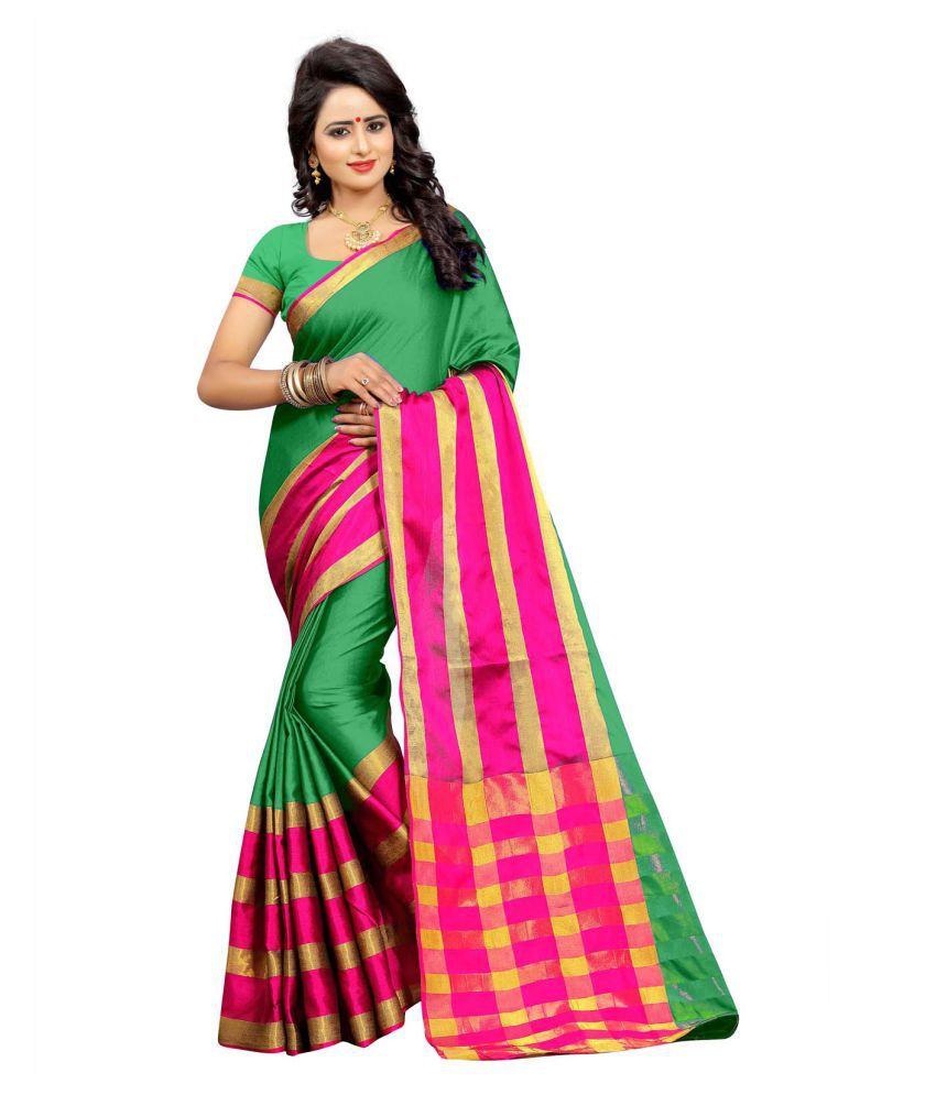 Senorita Fashion Multicoloured Cotton Silk Saree