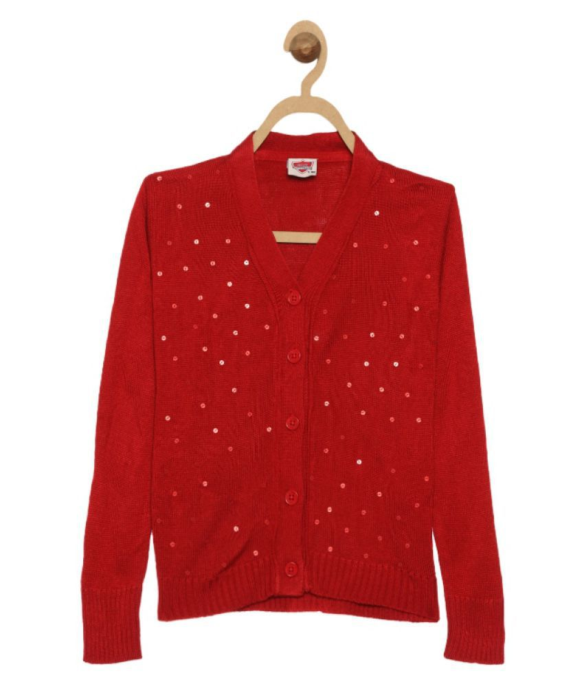 612 League Red Girls Cardigan