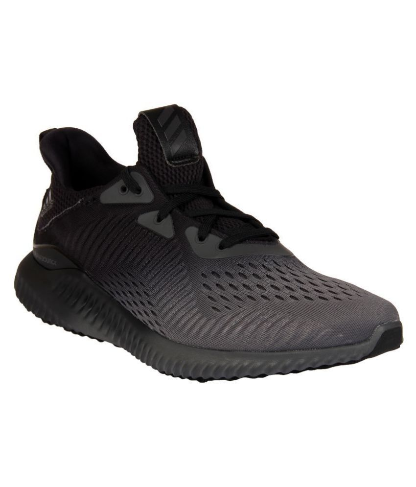 6b8f96e20 Adidas ALPHABOUNCE Black Running Shoes - Buy Adidas ALPHABOUNCE Black  Running Shoes Online at Best Prices in India on Snapdeal