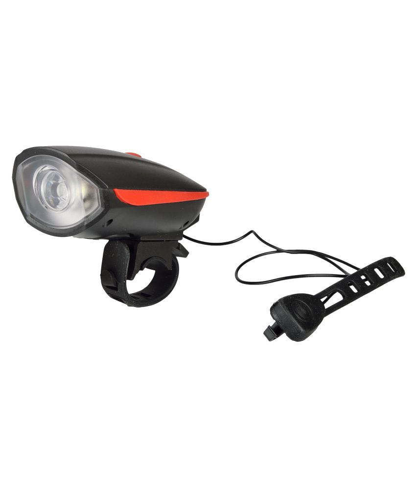DarkHorse Bicycle LED 3 Mode Front Light & Horn Battery Operated, Red