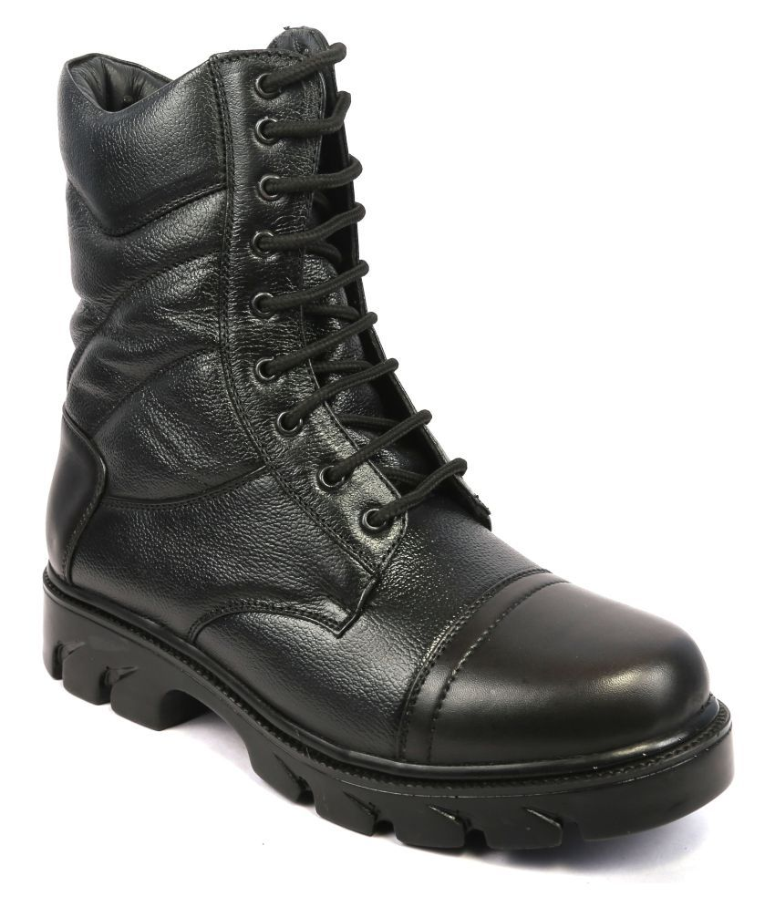 Icebull Leather Black Hiking & Trekking Boot