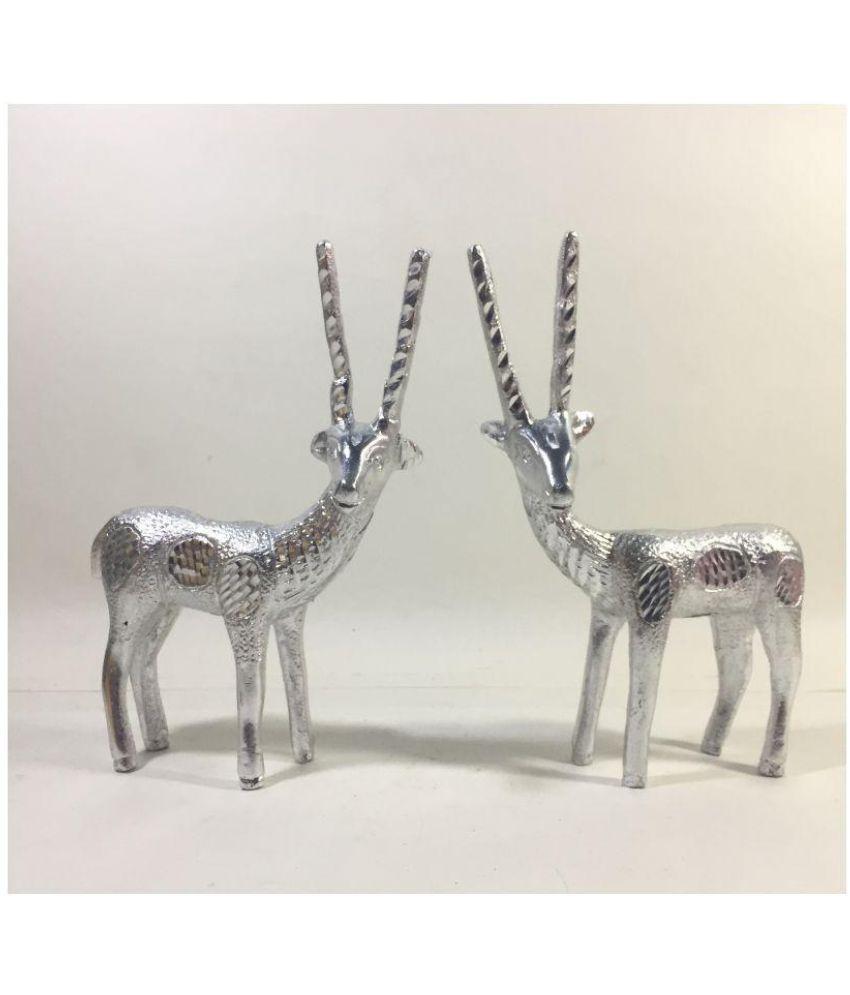 Unbranded Silver Aluminium Figurines - Pack of 2