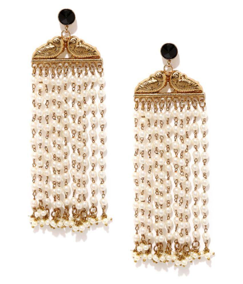 Tipsyfly Alloy Push back Lovebird earrings Tassel Earring for women