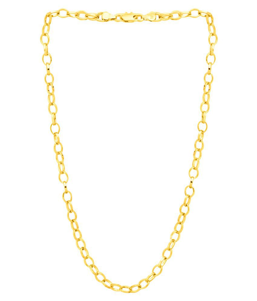 Dare by Voylla Gold Plated Rolo Chain For Men