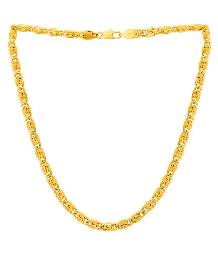 Dare by Voylla Men's Chain In Yellow Gold Plating
