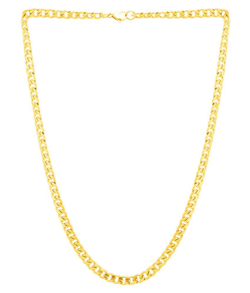 Dare by Voylla Yellow Gold Curb Chain For Men