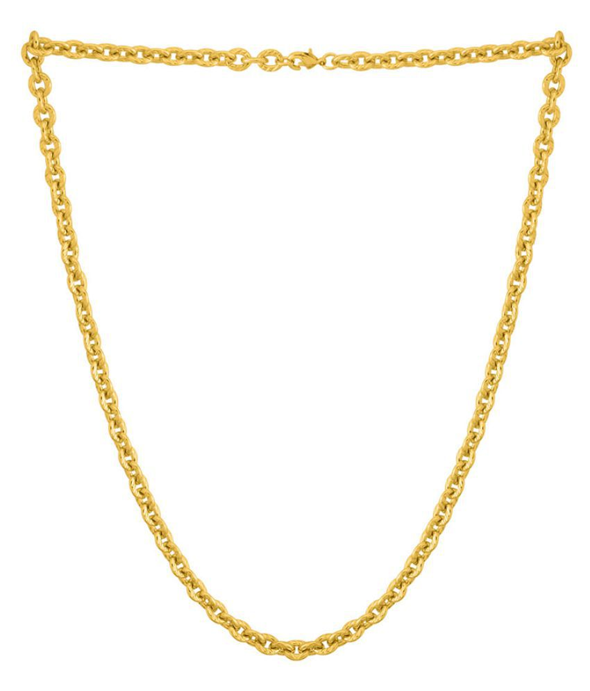 Dare by Voylla Yellow Gold Plated Rolo Chain For Men
