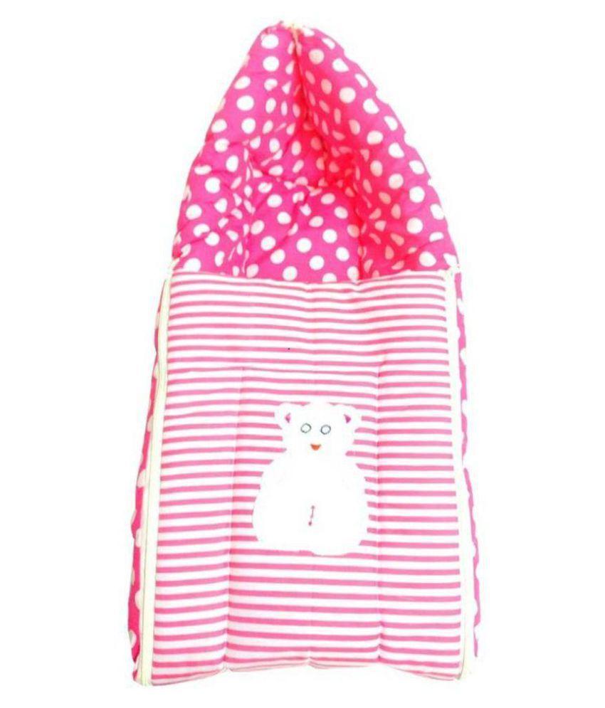 SpringLoom Pink Cotton Sleeping Bags ( 75 cm × 49 cm)