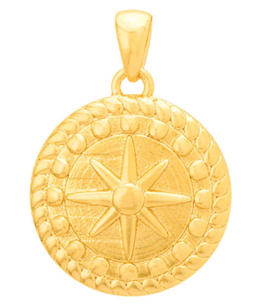 Dare by Voylla Compass Gold Plated Pendant Inspired By Nautical