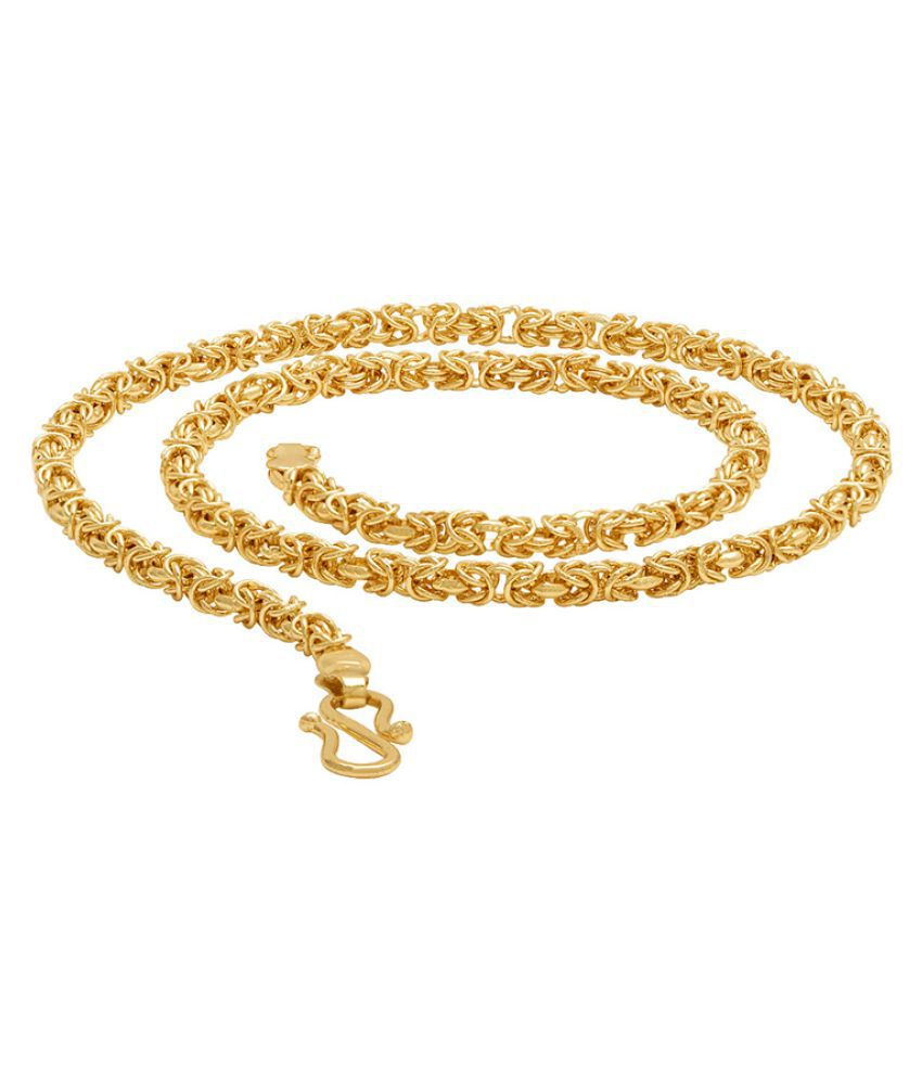Dare by Voylla Men S Gold Plated Twisted Rope Chain