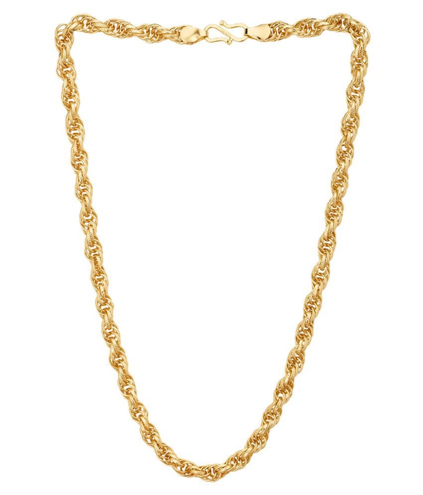 Dare by Voylla Spiga Link Chain with Yellow Gold Plating