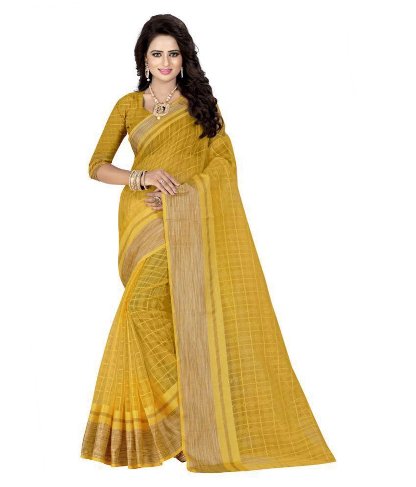 Urban India Yellow Georgette Saree