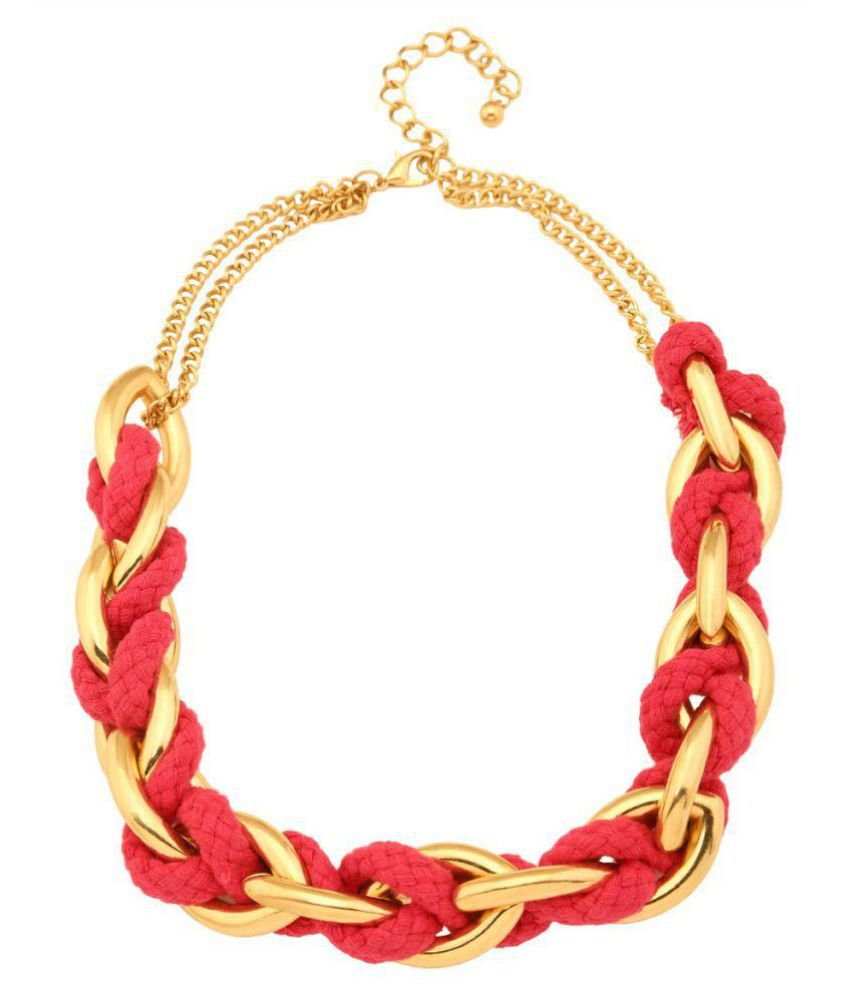 b44d9cc3c Tipsyfly Pink color Alloy Threads'n'Chains Necklace for women - Buy Tipsyfly  Pink color Alloy Threads'n'Chains Necklace for women Online at Best Prices  in ...