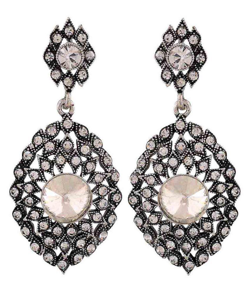 Maayra Showstopper Earrings Black Dangler Drop Party Jewellery