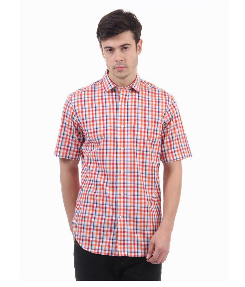 Nautica Red Regular Fit Shirt