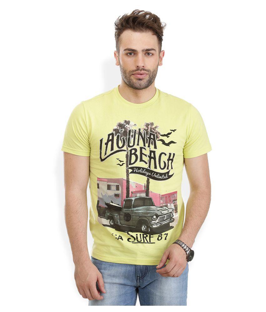 ETICO Yellow Round T-Shirt