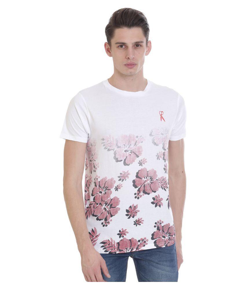 THISRUPT White Round T-Shirt Pack of 1