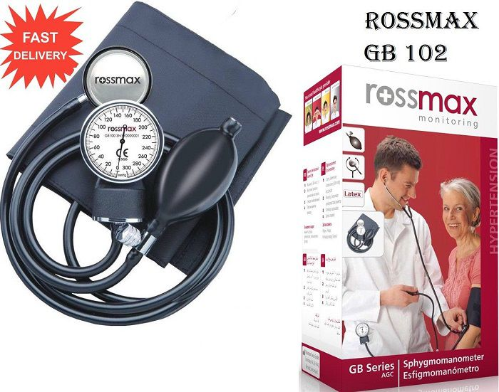 Rossmax GB 102 Upper Arm Manual Blood Pressure Monitor (D-ring cuff with stethoscope)