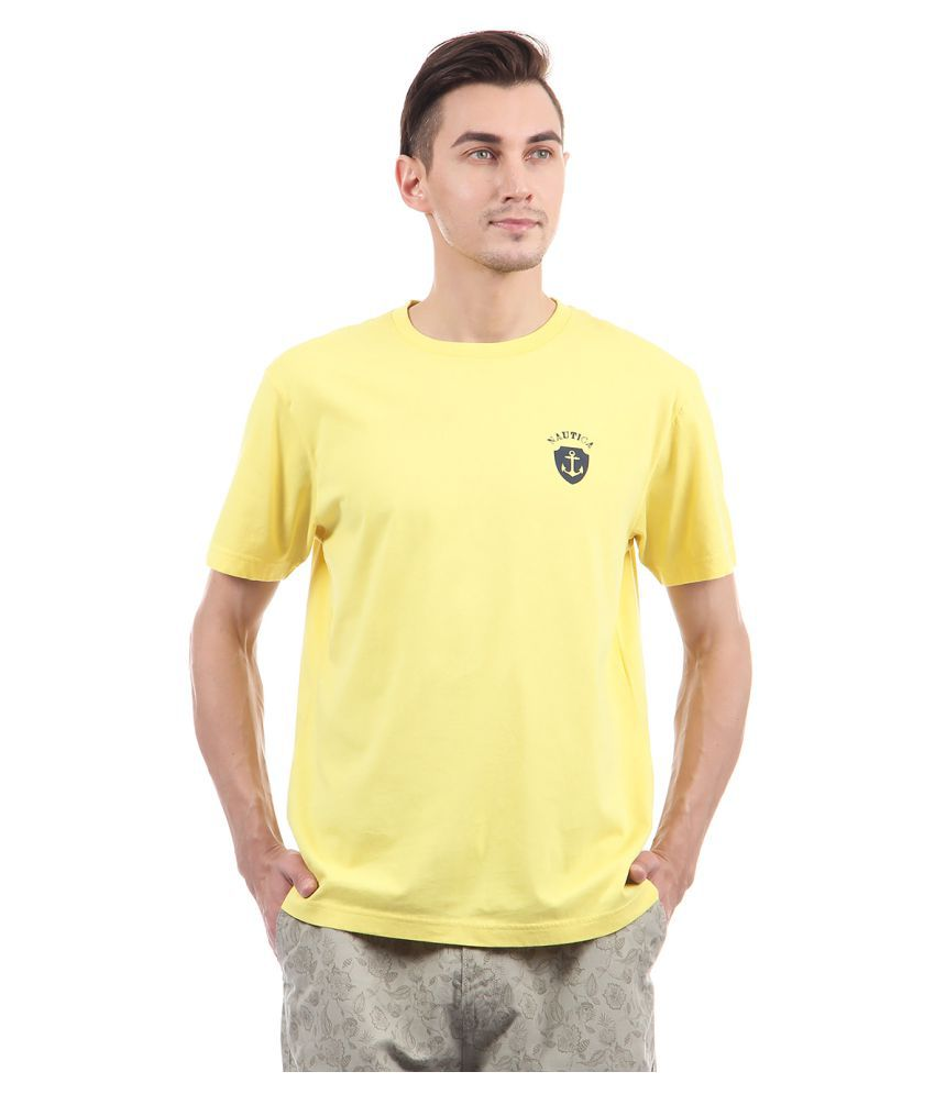 Nautica Yellow Round T-Shirt