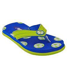 Beanz Ryl. Blue/ Lemon Yellow Soft Comfy Beach/Homewear Flip Flop Kids Footwear