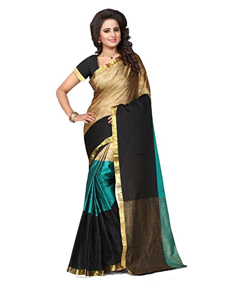 kavya Fashion Blue Cotton Saree