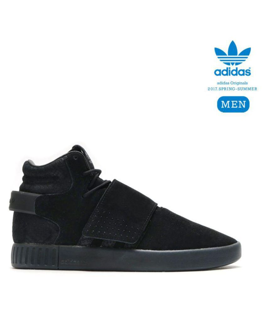 69326a495394 ... official store adidas tubular invader strap boost high black running  shoes 70360 99c33