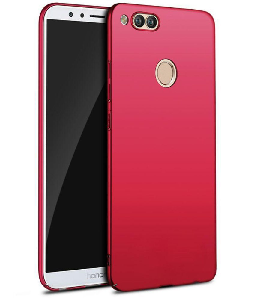 check out d04f0 5bf5a Honor 7x Plain Cases Wow Imagine - Red