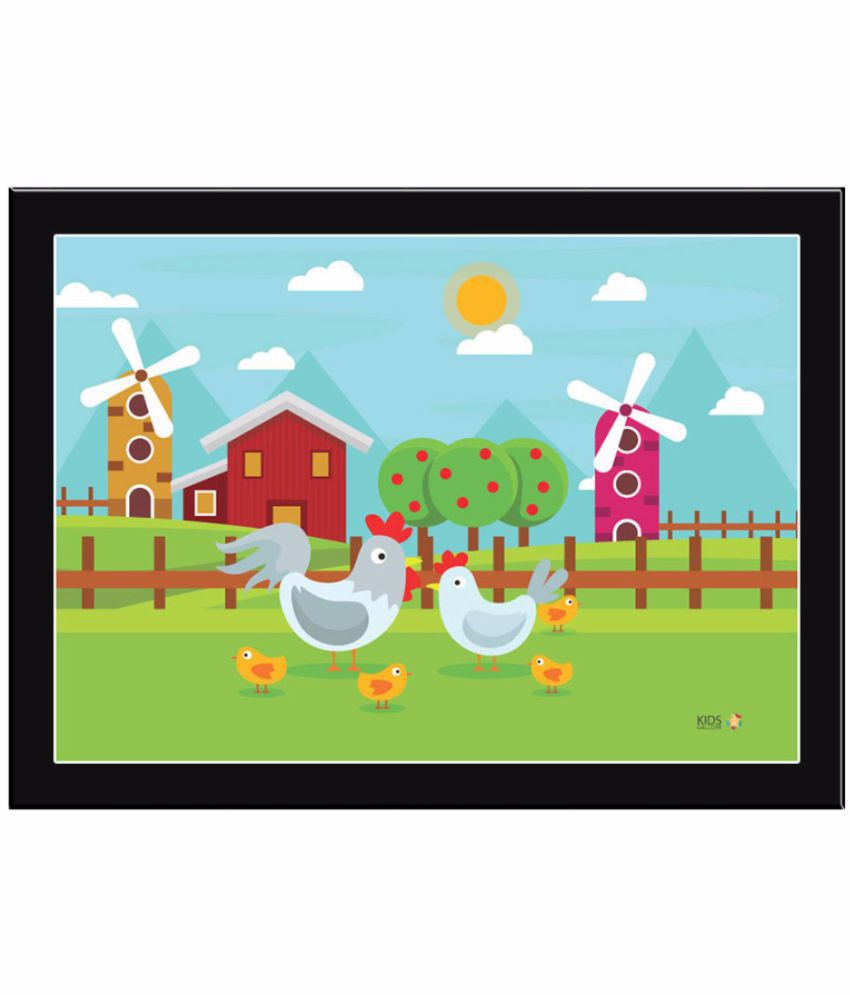 Kids Gallore Assorted Acrylic Wall Poster With Frame