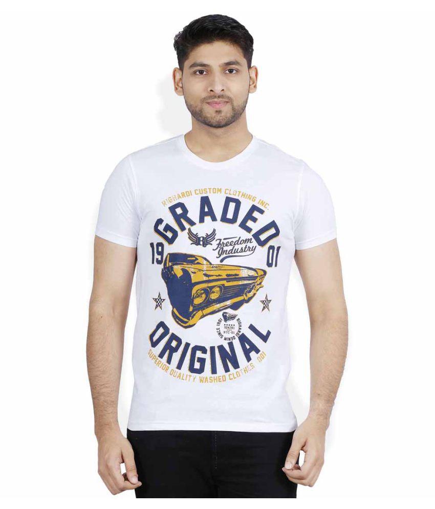 RIGHARDI White Round T-Shirt Pack of 1