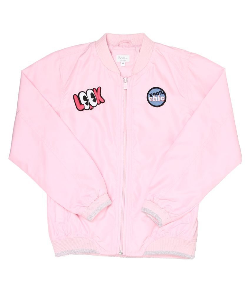 Pepe Jeans Girls Light Pink Casual Jacket