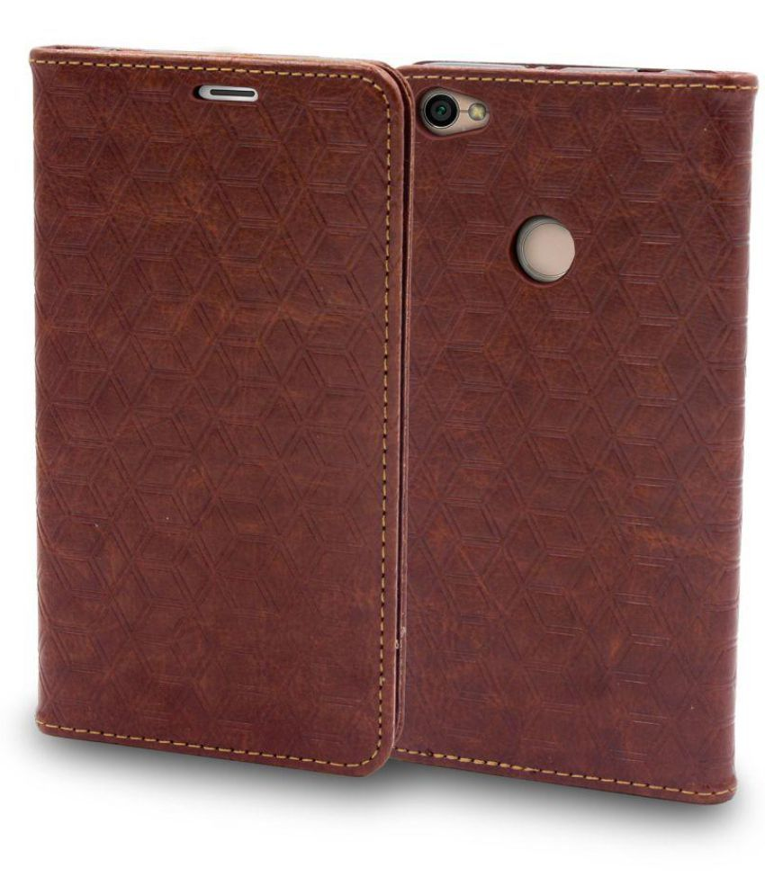 huge selection of d99a0 860ab Xiaomi Redmi Y1 Flip Cover by Ceego - Brown