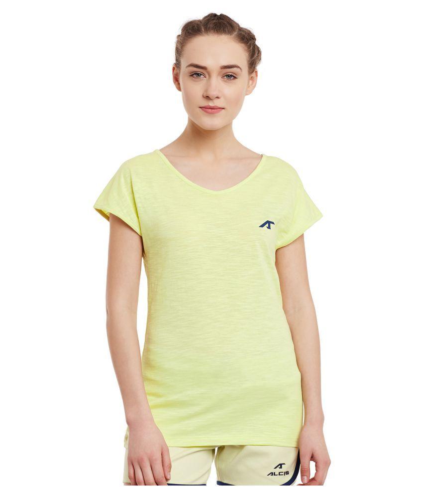 ALCIS WOMENS YELLOW T-Shirts