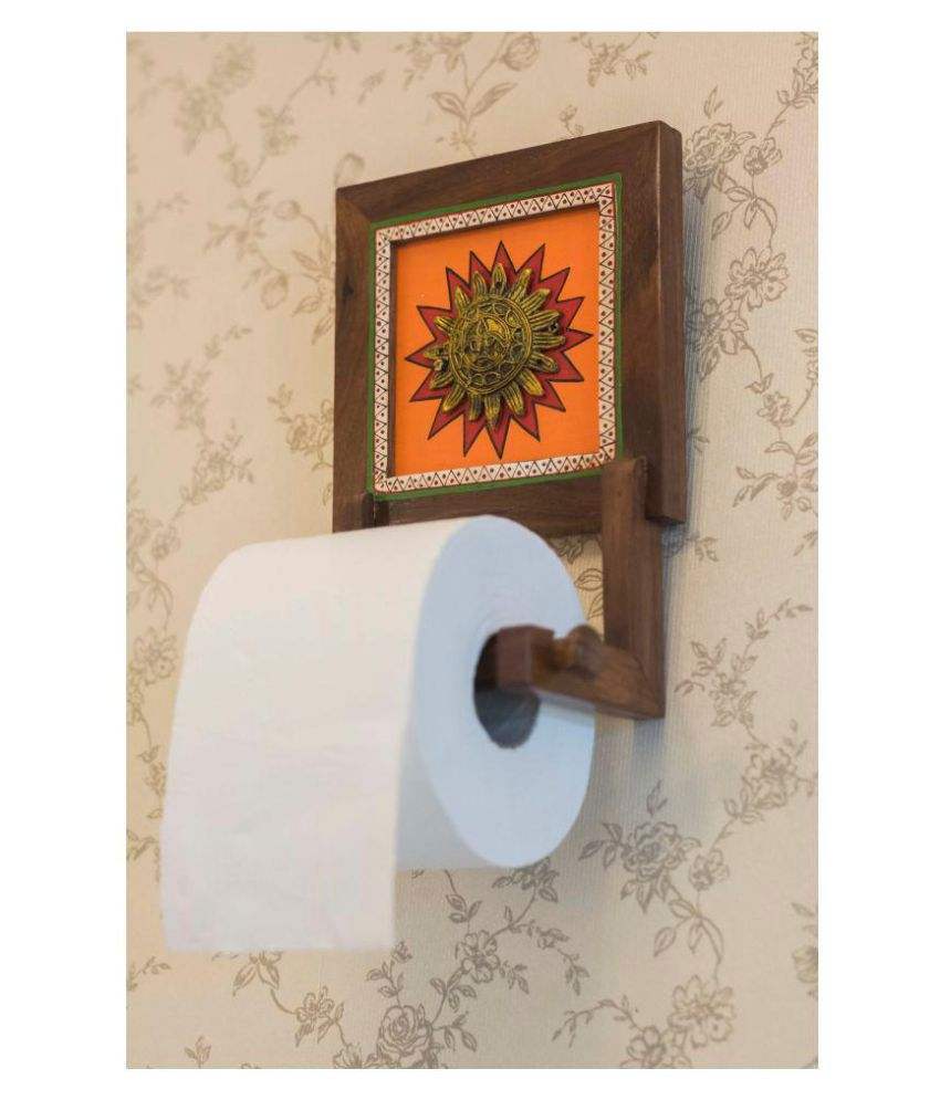 Indikala NA Wooden Toilet Paper Holder