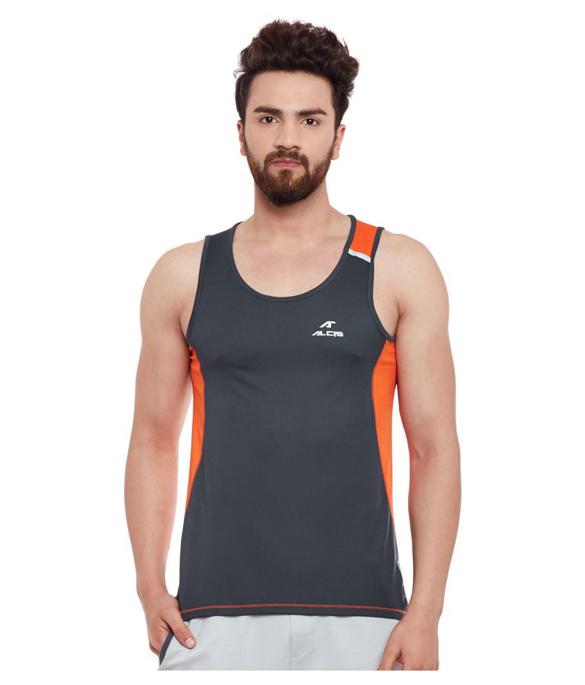 ALCIS MENS GREY/ORANGE T-Shirts