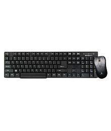 Zebronics Companion 6 wireless keyboard and mouse combo Black Wireless Keyboard Mouse Combo SLIM AND SLEEK DESIGN, Made of Best Plastic