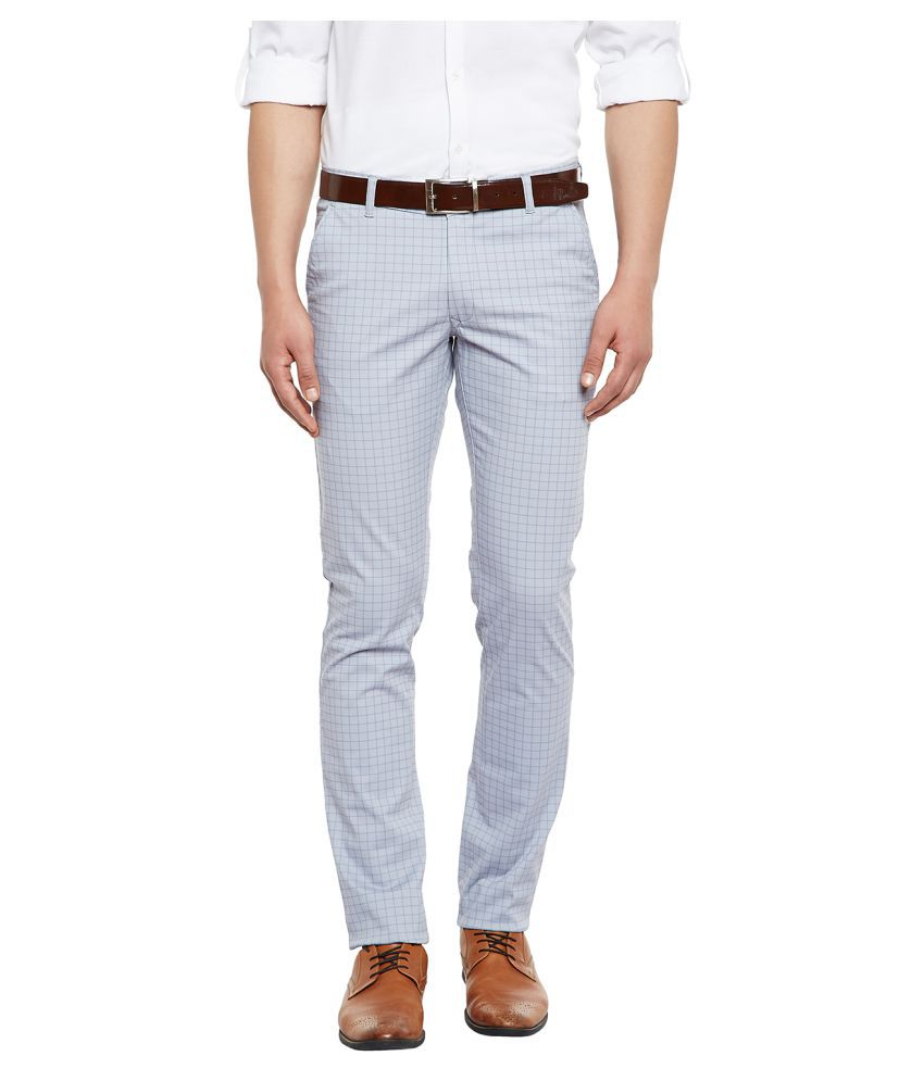 Canary London Grey Slim -Fit Flat Chinos