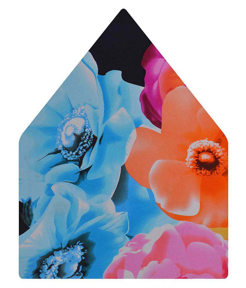 Tiekart Multi Floral Silk Pocket Square for Men